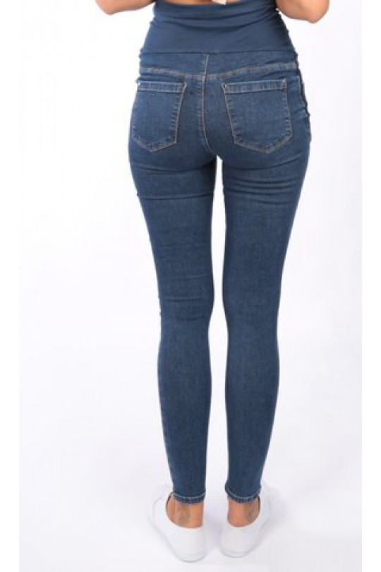 Брюки джинс для беременных  с лампасами арт 347