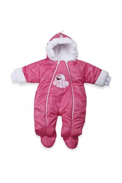 Детский утепленный демисезонный комбинезон для новорожденного (плащевка) Осень Весна Тяпа, розовый