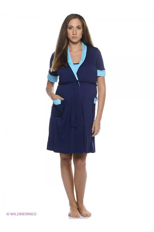 Комплект сорочка и халат ем1020